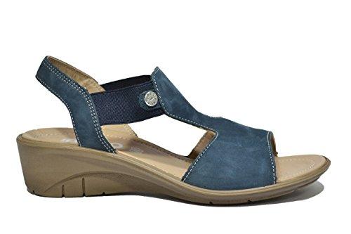 Igi&co Sandali zeppa blu scarpe donna 38346