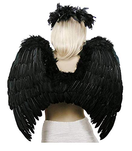 SUKIYAKI Large Angel Wings Costume Adult Black Feather Costume Cosplay -