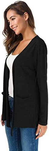 TownCat Cardigans for Women Loose Casual Long Sleeved Open Front Breathable Cardigans with Pocket 4
