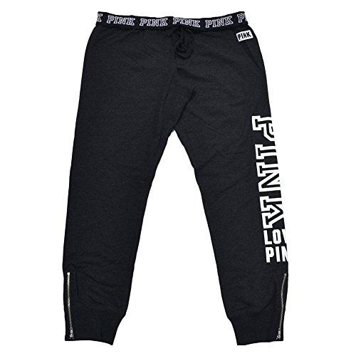 Victoria's Secret, Pink Gym Pants Lounge Sweatpant Charcoal (Large) (Victoria Sweatpants)