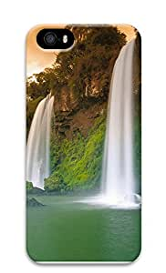 iPhone 5 5S Case The Natural Beauty Of Twin Falls 3D Custom iPhone 5 5S Case Cover