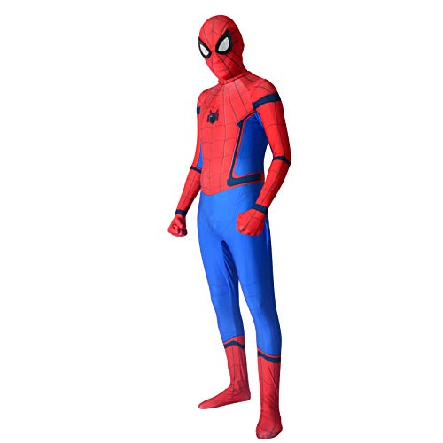 Superhero Cosplay Suit Spandex Bodysuit Skin Tight Onesie Halloween Party Costume,for Height 110cm -