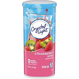 Crystal Light Strawberry Kiwi Drink Mix (72 Pitcher Packets, 12 Packs of 6)