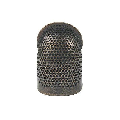 D&D Sewing Thimble Finger Protector, Adjustable Finger Metal Shield Protector Pin Needles Sewing Quilting Craft Accessories DIY Sewing Tools (Medium)