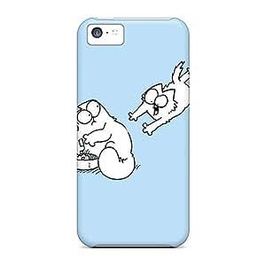 Iphone 5c ZPk5528BftU Customized High-definition Simons Cat Image Shock Absorption Hard Phone Case -AaronBlanchette