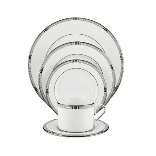 Lenox Westerly Platinum Bone China 5-Piece Place Setting, Service for 1