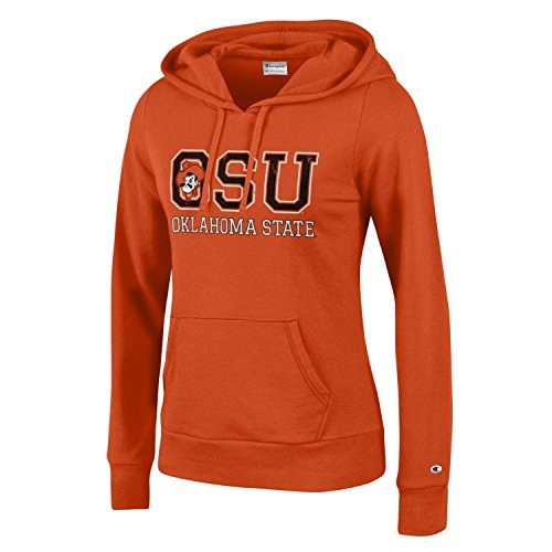 (Champion NCAA Women's Comfy Fitted Sweatshirt University Fleece Hoodie Oklahoma State Cowboys)
