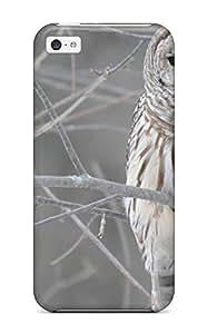 New Tpu Hard Case Premium Iphone 5c Skin Case Cover(owl)