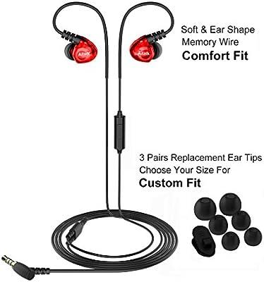 Deporte Auriculares, aitalk E260 Cable en Oreja Auriculares Bass ...