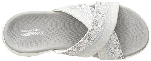 Go Monarch Femme Gris Plateau Sandales Blanc The 600 Skechers on Ixf6qp