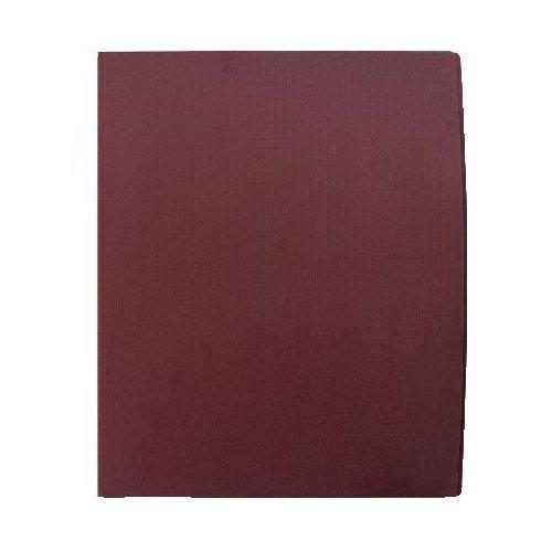 GBC Designer Two Pocket Folders, Letter Size, 60 Sheet Capacity, Burgundy, 5 Folders per Pack (W55516C)