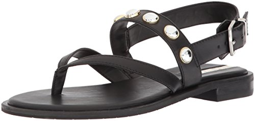 - Kenneth Cole New York Women's Tama Stud Flat Thong Sandal with Backstrap, Black, 6 M US