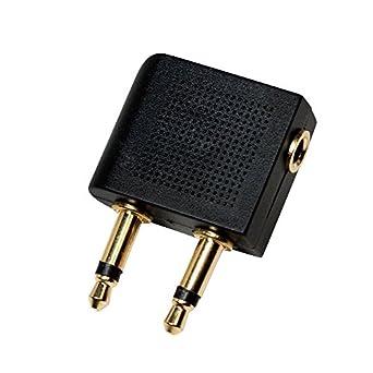 LogiLink CA1089 Adaptateur Audio pour Avion Noir