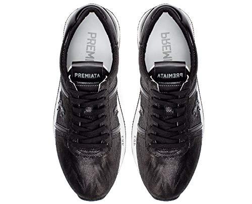 Zapatillas Mujer Premiata De Connny Cuero Negro Para qwTzC5TZ