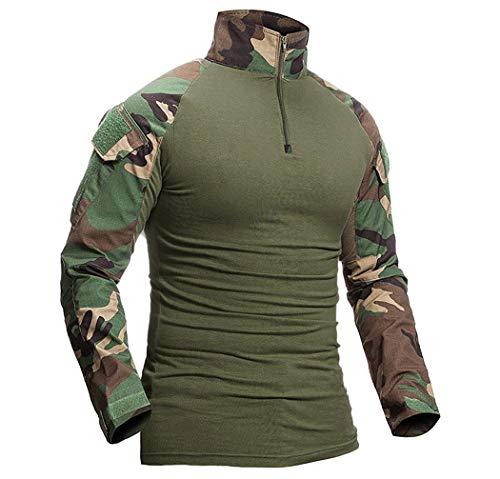ShallGood Homme Chemises Combat Militaire Airsoft BDU Shirt Tenue Camouflage Uniforme Tactique Séchage Rapide avec… 2