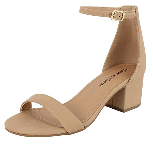 86a0a8306f City Classified Comfort Womens Block Heel Dress Sandal Open Toe Ankle Strap  Heeled Sandals - Buy Online in Oman. | Shoes Products in Oman - See Prices,  ...