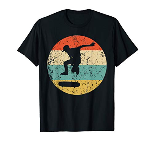 Skateboarding Shirt - Vintage Retro Skateboarder T-Shirt (Ladera Skateboards)