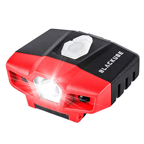 USB Rechargeable Cap Hat Light Ball Cap Visor Light A Pack or 2 Packages - Clip Headlamp Hands Free Rotatable Cree LED Portable Clip on Cap Light for Reading Hunting Fishing Running Camping Cycling