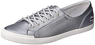Lacoste Lancelle Sneaker 119 2 Women's Fashion Shoes, SLV/Off WHT, 5 US