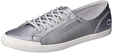 Lacoste Lancelle Sneaker 119 2 Women's Fashion Shoes, SLV/Off WHT, 5 US