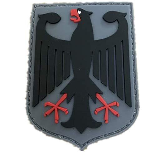 (Morton Home KSK Federal Republic of Germany Black Eagle Germany Bundeswehr Coat of arms Insert Bundestag 3D Rubber Patch (Black))