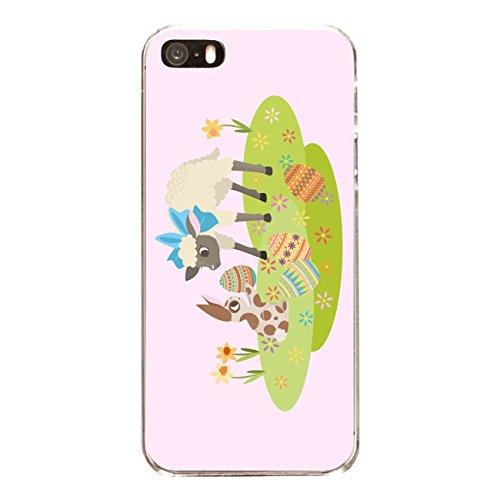 "Disagu Design Case Coque pour Apple iPhone 5 Housse etui coque pochette ""Osterhase und Lamm rosa"""
