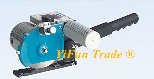 YJ-D108 High Speed Electric Control Cloth End Scissor Time Delay Electric Cutter Cutting Machine Cloth Fabric Cutter 14000 r/ min (Cutter & Track, no table )