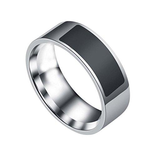 YJYdada NFC Multifunctional Waterproof Intelligent Ring Smart Wear Finger Digital Ring (Heart Rate Monitor Ring)