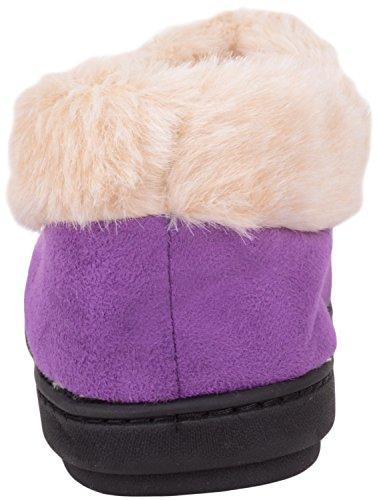 Calzatura Da Donna Di Assoluta Calzatura Su Pantofole / Stivaletti / Scarpe Da Interni Con Caldo Interno In Pelliccia Sintetica Prugna
