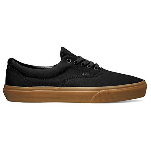 Vans Unisex Era Black/Classic Gum Skate Shoe 10 Men US (Vans Mens Gumsole)