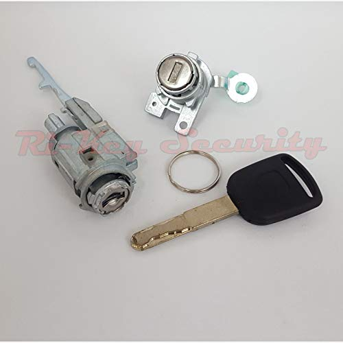RI-KEY SECURITY - Ignition Switch Cylinder and Door Lock Set for Honda Accord 03-07 (4 Doors) Chipped Key ()