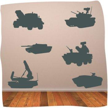 ej?rcito tanques y veh'culos ni-os pared pegatinas pared arte - ej?rcito arte - 30 cm de altura de la pared * Auto W