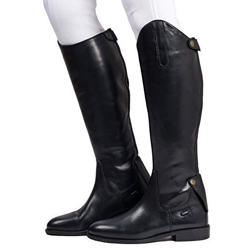 Equi Black Leather Ladies Plain Boot Horse Lace Outdoor Walking Equestrian Riding Tall 1n1qIwpTPa