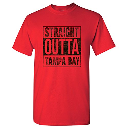 (Straight Outta Tampa Bay T-Shirt - X-Large - Red)