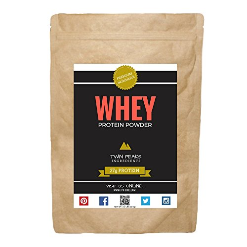 BEST PROTEIN! TPI Whey Protein Isolate Powder, Unflavored [Grass Fed RBST Free] - Net Wt. 2.2 lbs. (1 Kg)