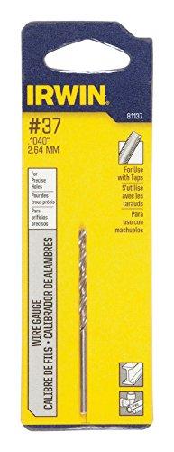 Irwin Wire Gauge Drill Bit Hss, No. 37 Carded ()