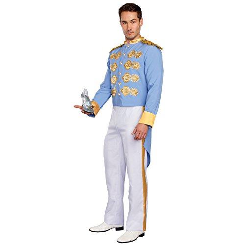 Dreamgirl Men's Handsome Prince, Blue/White, L