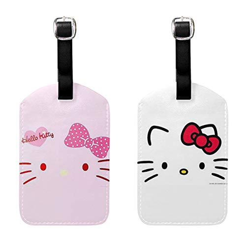 LXINGLI Fashion Hello Kitty Luggage Tags Suitcase Carry-onId Travel ID Bag Tag for Suitcase- Set of 2 ()