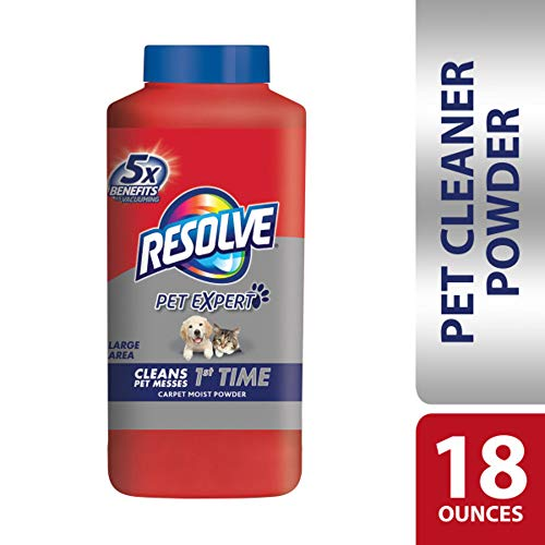 (Resolve Pet Carpet Cleaner Powder, 18 oz Bottle, For Dirt Stain & Odor Removal)