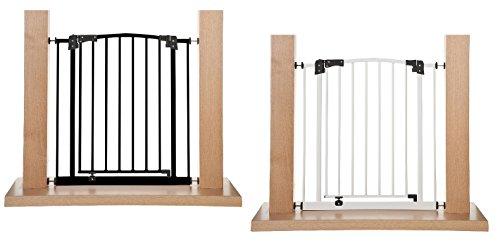 Impag Türschutzgitter Treppenschutzgitter 62 - 222 cm selbstschließend - zum Klemmen - ohne Bohren Swing + 10 Weiß