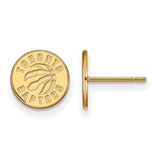 14K Yellow Gold NBA Toronto Raptors X-Small Post Earrings by LogoArt