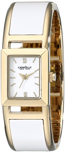 Ladies Bulova Two Tone Bangle Watch - Caravelle New York Women's 44L143 Two-Tone Bangle Watch
