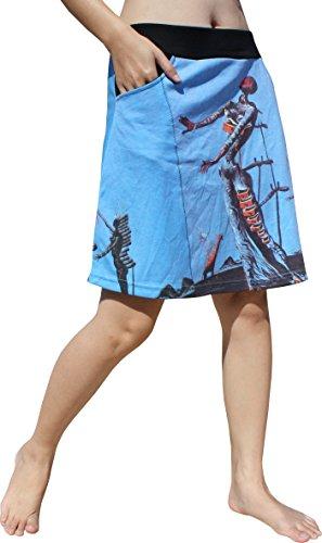 (RaanPahMuang Short Skirt Two Pocket - Salvadore Dali - Burning Giraffe, X-Large)
