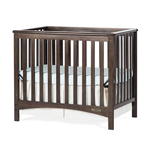 (Childcraft London 2-in-1 Mini Convertible Crib - Slate)
