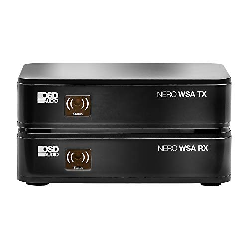 Nero-WSA Wireless Subwoofer Transmitter/Receiver Kit with 5.8 GHz Frequency Band and Dual Source Diversity Antennas - OSD Audio