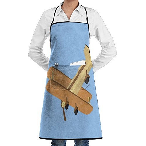 (HTSS Origami-animated-plane Unisex Chef Aprons With Pockets Bakery Servers Waitress Craftsmen For Mens Womens Home Kitchen Cooking)