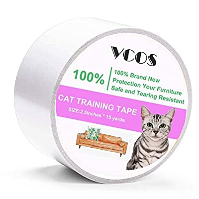 Cat scratching VCOS Anti-Scratch Cat Training Tape Clear Double Sided Sticky... [tag]