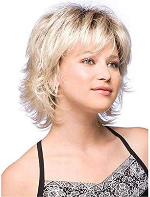 Hairpieces Hair Extension European And American Wig Short Hair Ladies Gradient Gold Curly Hair Wig Hair Weave Buy Online At Best Price In Uae Amazon Ae