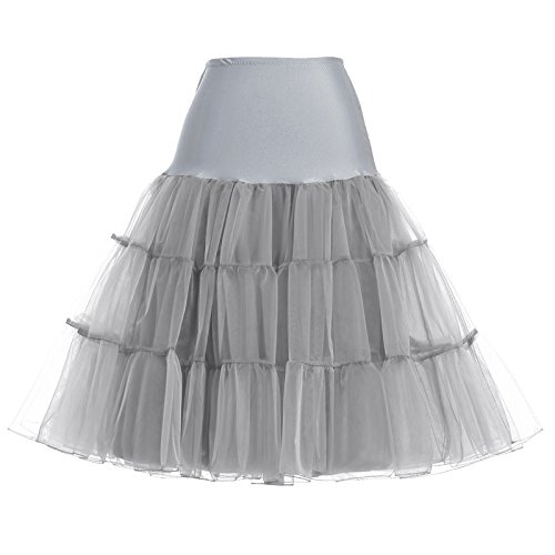 Costumes Tulle Underskirt Cancan Slip for Women (XL,Grey) ()