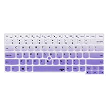 Leze - Ultra Thin Silicone Laptop Keyboard Cover Skin Protector for Thinkpad T460 T460p T460s T470 T470s E460 E645 E470 E475 L460, P40 Yoga, Thinkpad X1 Yoga, Thinkpad Yoga 460 Laptop - Gradual Purple